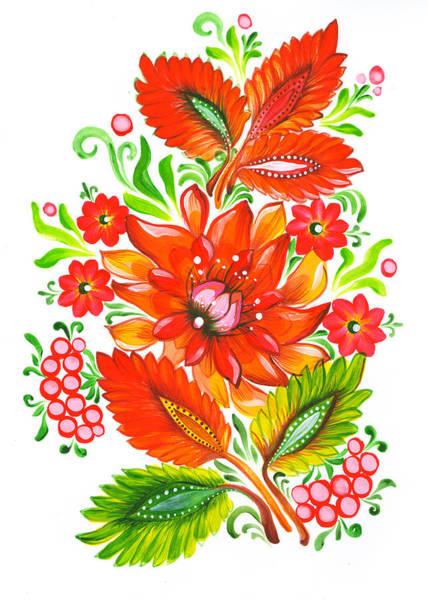 Fire Flower Poster
