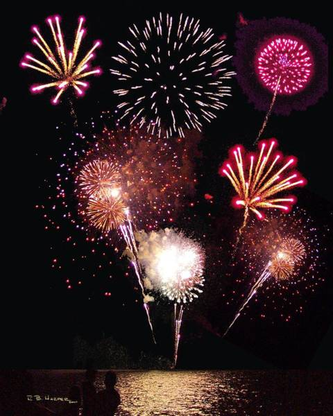 Fireworks At St. Albans Bay Poster