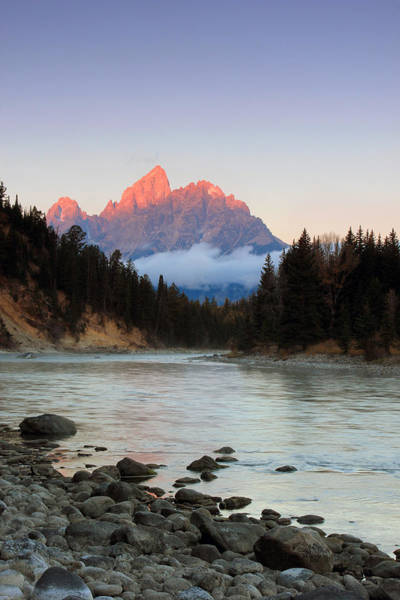 First Light On The Grand Teton Poster