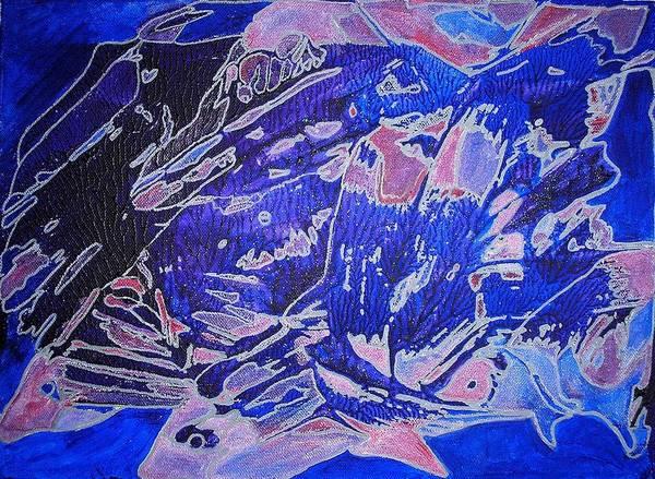 Fish Shoal Abstract Poster
