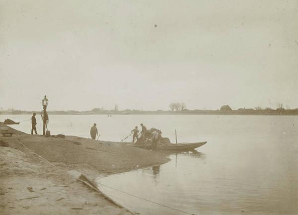 Fishermen On The Bank Of A River, Henry Pauw Van Wieldrecht Poster