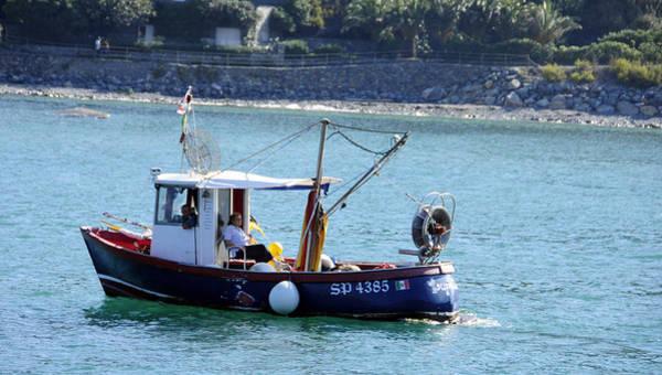 Fishing Boat At Portovenere Poster
