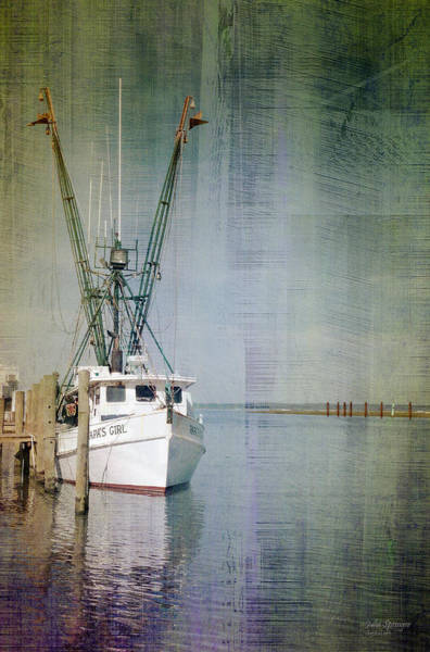 Fishing Boat In Chincoteague Poster