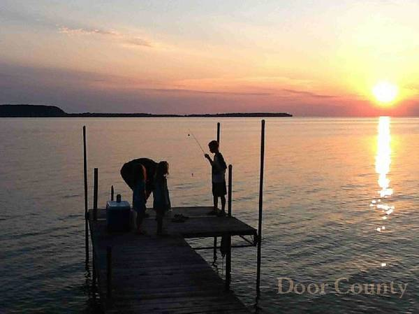 Fishing From The Dock In The Sunset Poster