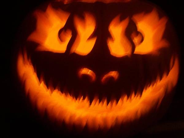 Flame Pumpkin Poster