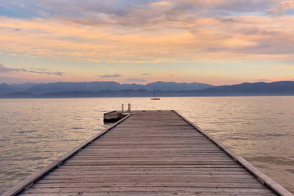 Flathead Lake Sunset Poster