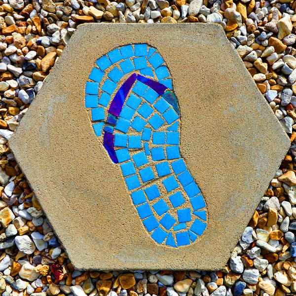 Square Flip Flop Stepping Stone Two Poster