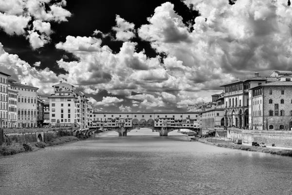 Poster featuring the photograph Florence Old Bridge by Mirko Chessari