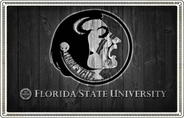Florida State University Black And White Barn Door Poster