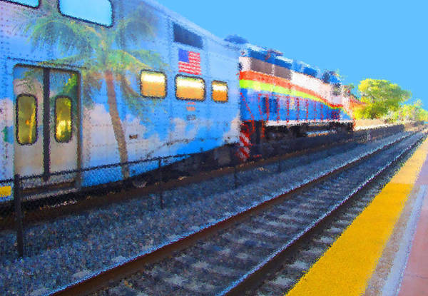 Florida Train Poster