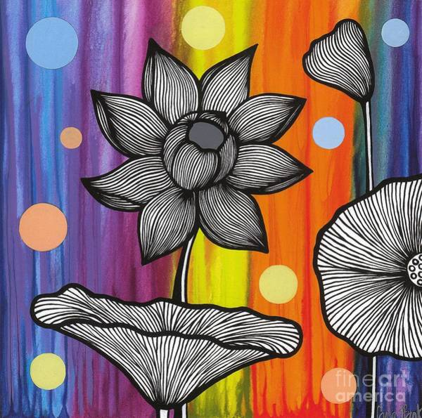 Poster featuring the painting Flower Power by Carla Bank