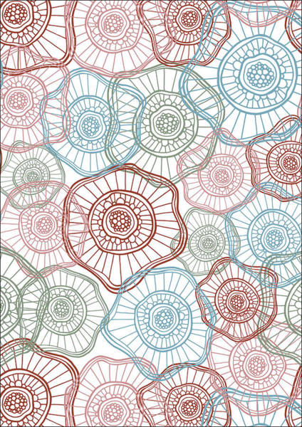 Flower Squiggle Poster