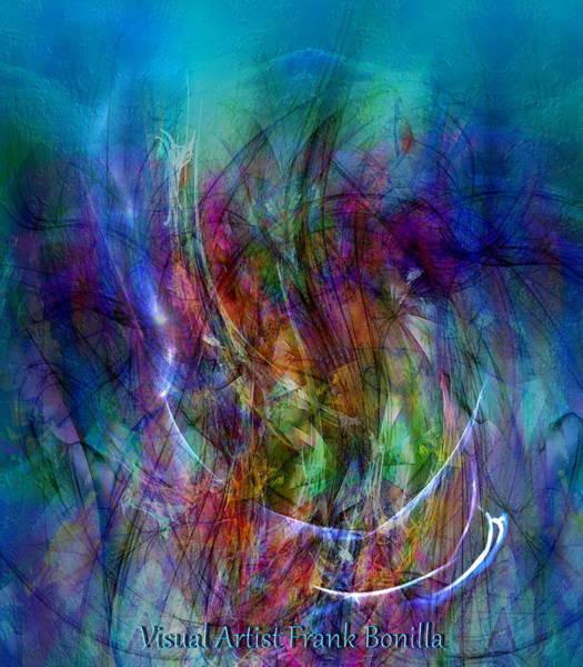 Poster featuring the digital art Flower Vase by Visual Artist Frank Bonilla