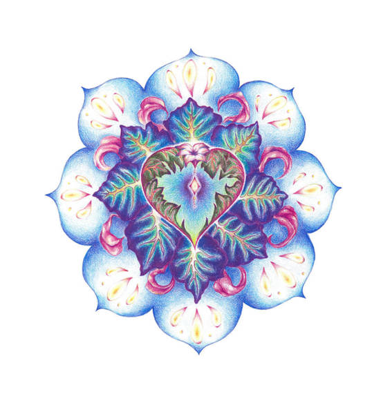 Flowering Of The Heart   Oneness Art Poster
