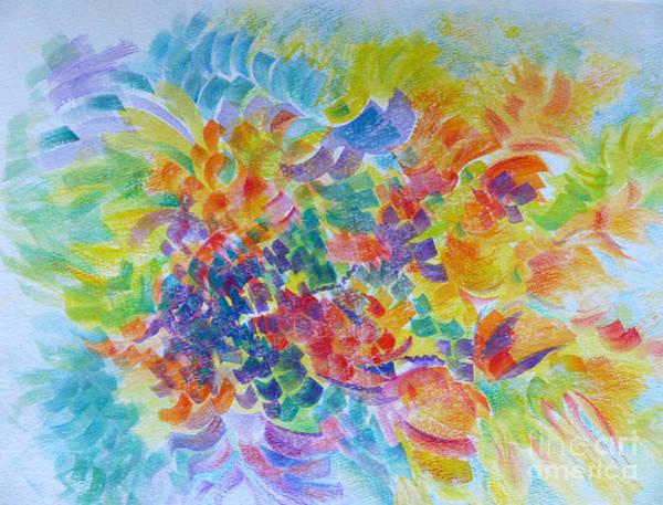 Flowers In Lavender Vase Poster