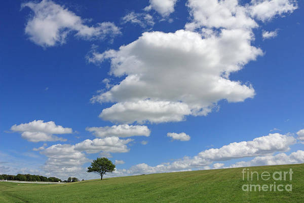 Fluffy Clouds Over Epsom Downs Surrey Poster
