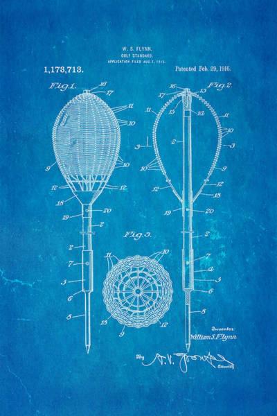 Flynn Merion Golf Club Wicker Baskets Patent Art 1916 Blueprint Poster