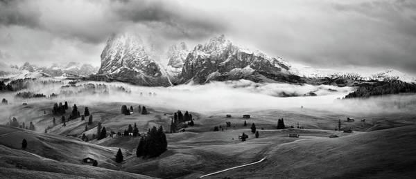 Foggy Dolomites Poster
