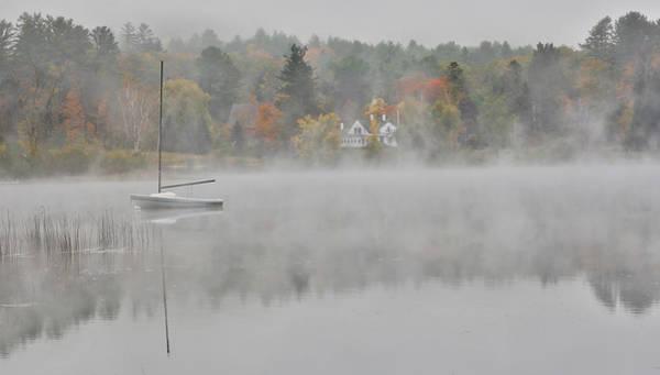 Foggy Morning Small Lake, New Hampshire Poster
