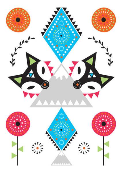 Folk Fox Poster