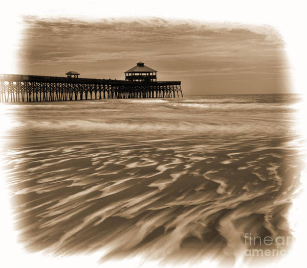 Folly Beach Pier Toned Poster