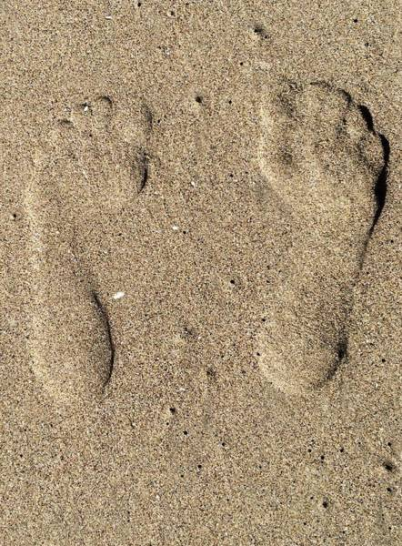 Foot Steps In The Sand  Poster