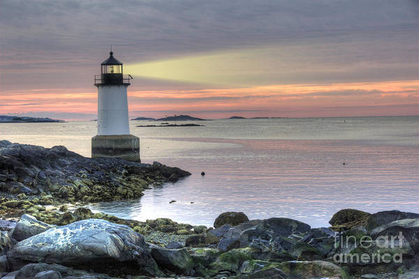 Fort Pickering Lighthouse At Sunrise Poster