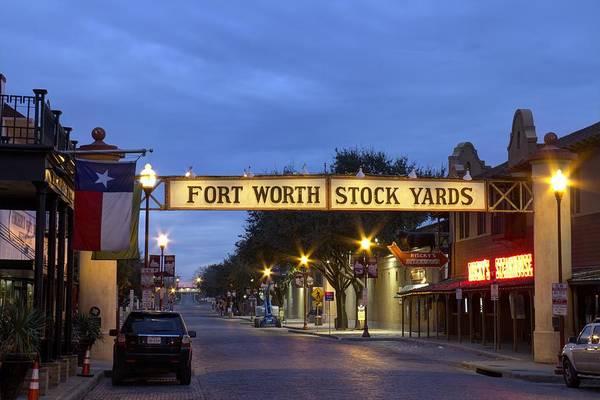 Fort Worth Stockyards Poster