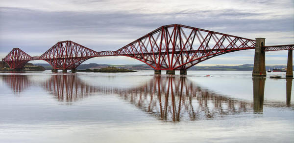 Poster featuring the photograph Forth Bridge Reflections by Ross G Strachan