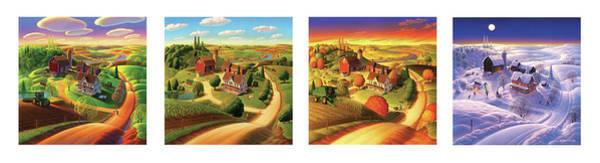 Four Seasons On The Farm Poster