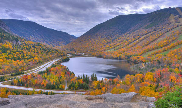 Franconia Notch From Artist's Bluff Poster