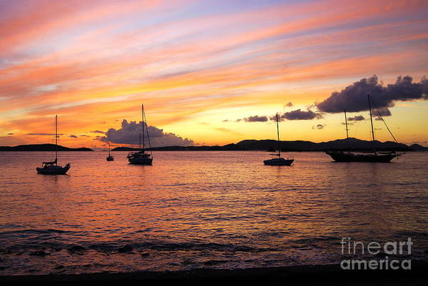 Frank Bay St. John U. S. Virgin Islands Sunset Poster