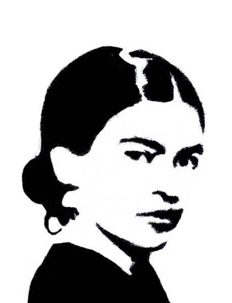 Frida Black And White Poster