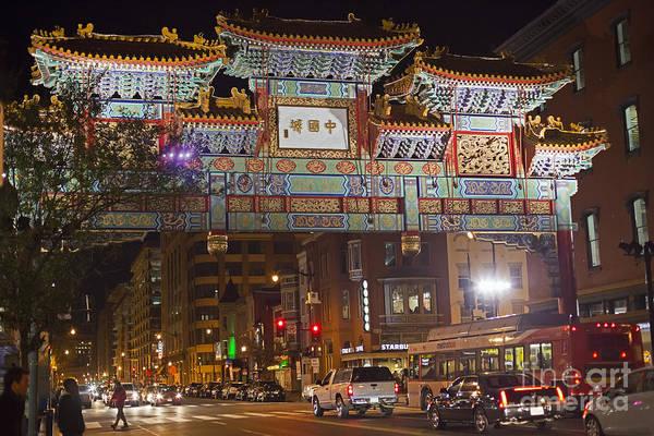 Friendship Archway In Chinatown Poster