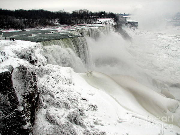 Frozen Niagara And Bridal Veil Falls Poster