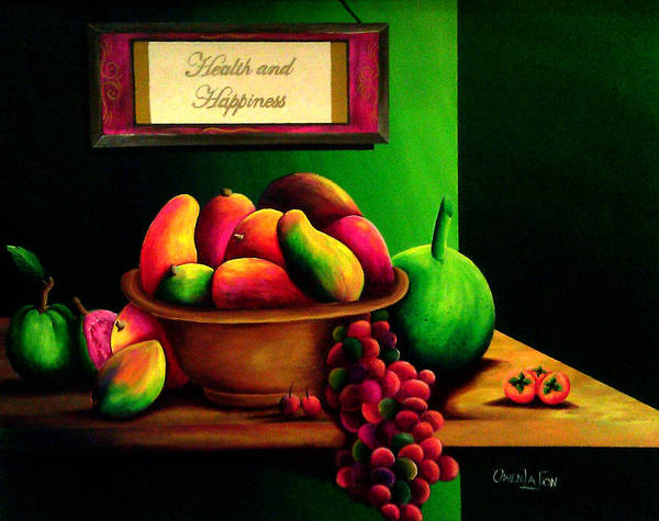 Fruits Still Life Poster