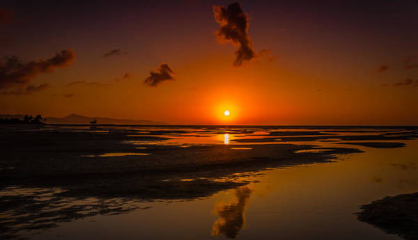 Fuerteventuera Beach Sunrise Reflections Poster
