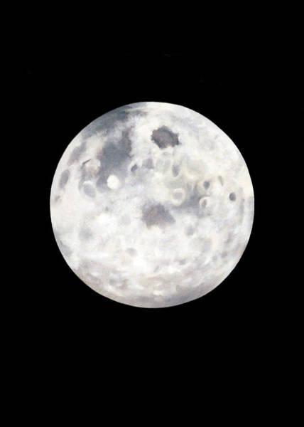Full Moon In Black Night Poster