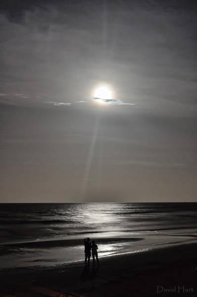 Full Moon Over Daytona Beach Poster