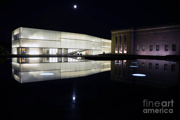 Full Moon Over Nelson Atkins Museum In Kansas City Poster