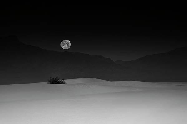 Full Moon Over White Sands Poster
