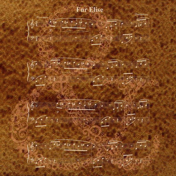 Fur Elise Music 2 Digital Painting Poster