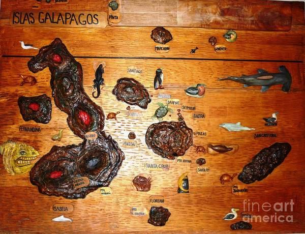 Galapagos Islands Map Poster