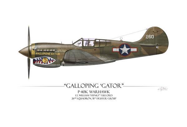 Galloping Gator P-40k Warhawk Poster