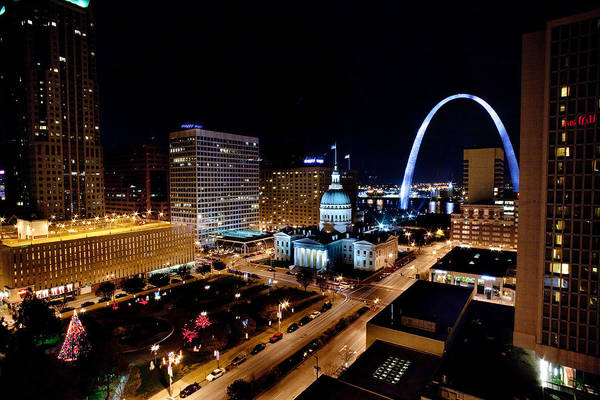 Gateway Arch St Louis Night Poster