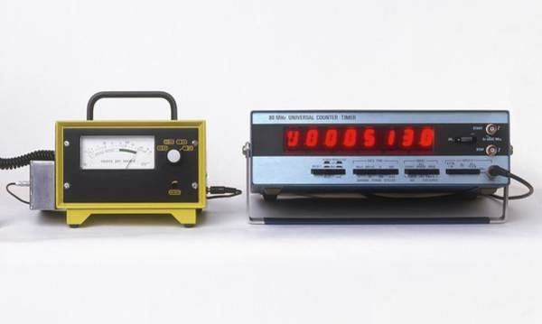 Geiger Counters With Digital Display Poster