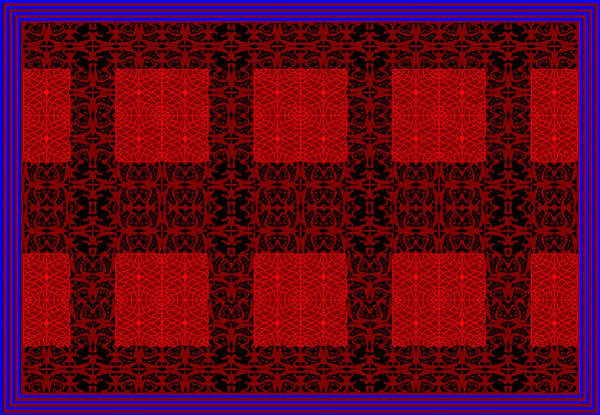 Geometric Abstract Stereo In Red Poster