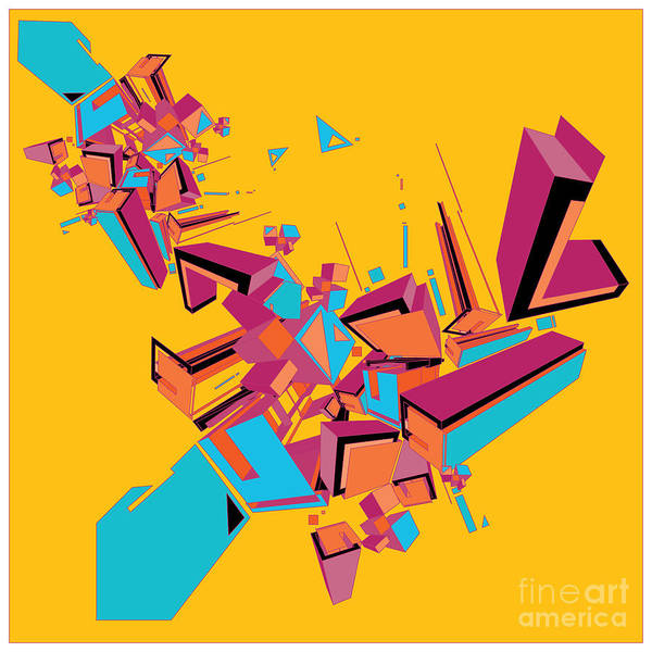 Geometric Design Abstract Background Poster