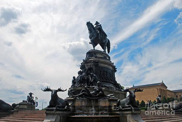 George Washington Statue Poster
