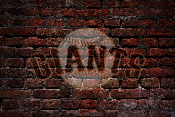 Giants Baseball Graffiti On Brick  Poster